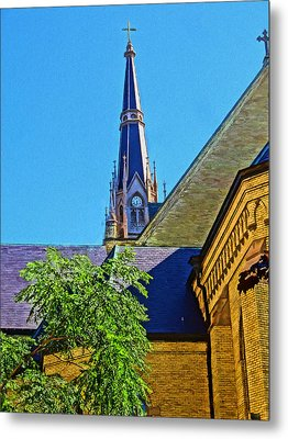 Basilica Of The Sacred Heart Notre Dame Metal Print by Dan Sproul