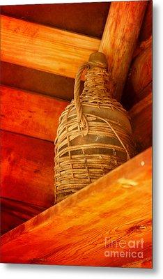 Basket For A Bottle Metal Print