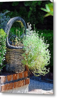 Basket Full Of Flowers Metal Print by Donna Bentley