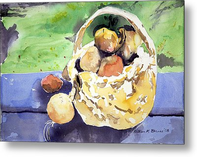 Basket Of Fruit Metal Print