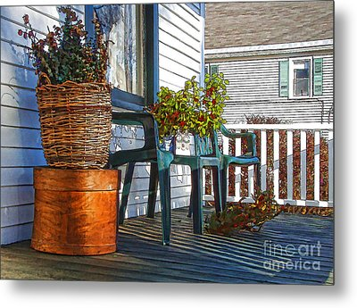 Metal Print featuring the photograph Basket Porch by Betsy Zimmerli