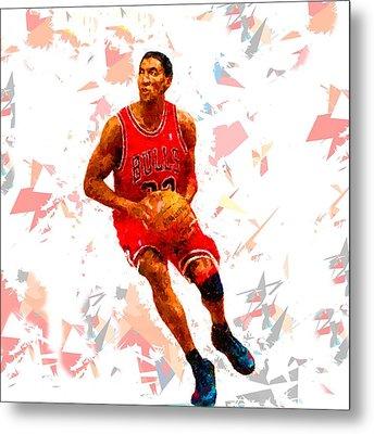 Basketball 33 Metal Print