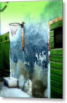 Basketball Court Metal Print by Funkpix Photo Hunter