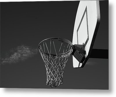 Basketball Court Metal Print by Richard Rizzo