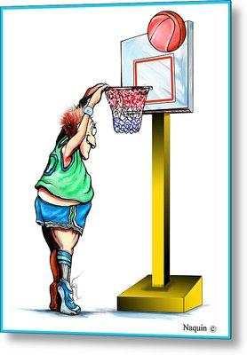 Basketball Dunk Metal Print