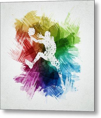 Basketball Player Art 04 Metal Print