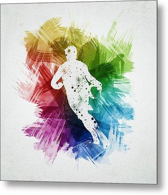 Basketball Player Art 08 Metal Print