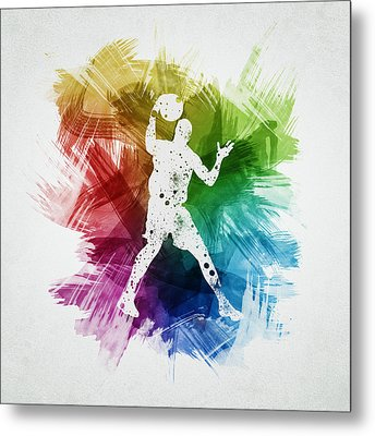 Basketball Player Art 11 Metal Print by Aged Pixel