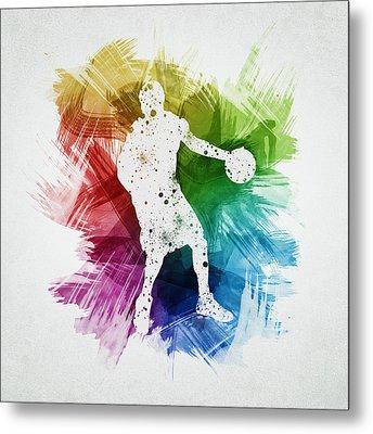 Basketball Player Art 21 Metal Print