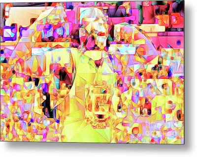 Metal Print featuring the photograph Basketball Power Flex In Abstract Cubism 20170328 by Wingsdomain Art and Photography
