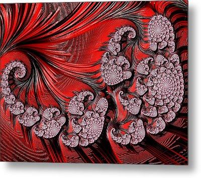 Bass Clef Abstract Metal Print by Georgiana Romanovna