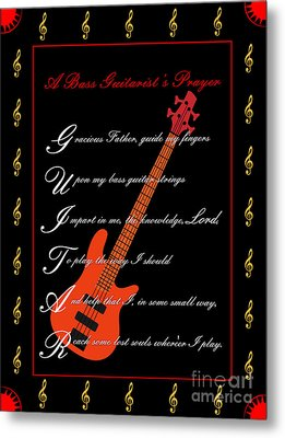 Bass Guitar_1 Metal Print by Joe Greenidge