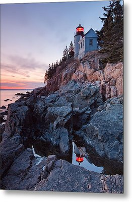 Bass Harbor Head Light Metal Print by Patrick Downey