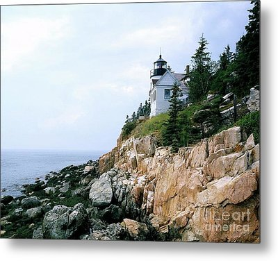 Bass Harbor Head Lighthouse Metal Print by Pd