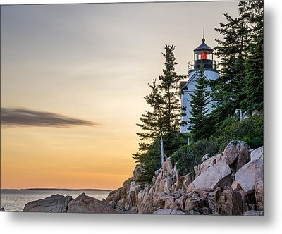 Bass Harbor Lighthouse Susnet  Metal Print by Trace Kittrell
