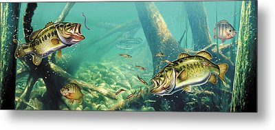Bass Lake Metal Print by JQ Licensing