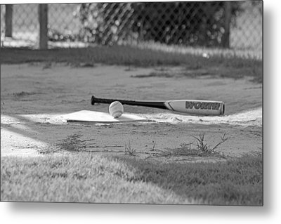 Bat And Ball Metal Print by Sheryl West