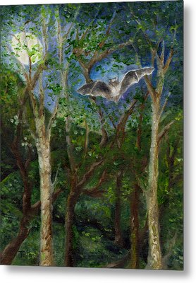 Bat Medicine Metal Print by FT McKinstry