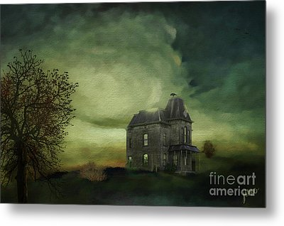 Metal Print featuring the mixed media Bates Residence by Jim  Hatch