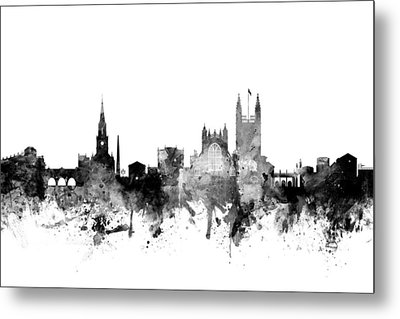 Bath England Skyline Cityscape Metal Print by Michael Tompsett