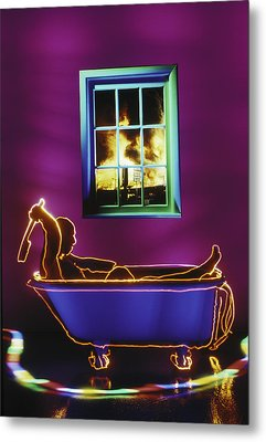 Bath Metal Print by Garry Gay