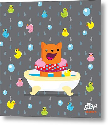 Bath Time  Metal Print by Seedys