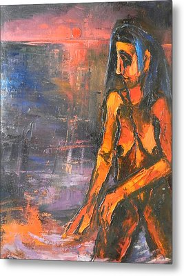 Metal Print featuring the painting Bather by Kenneth Agnello