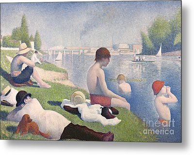 Bathers At Asnieres Metal Print by Georges Pierre Seurat