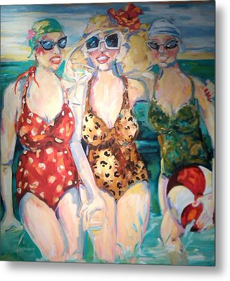Bathing Beauties  Metal Print