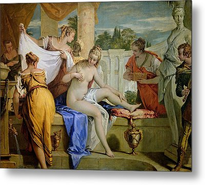 Bathsheba Bathing Metal Print by Sebastiano Ricci