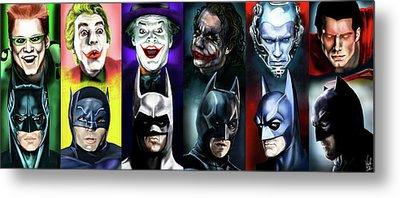 Batman 1966 - 2016 Metal Print by Vinny John Usuriello