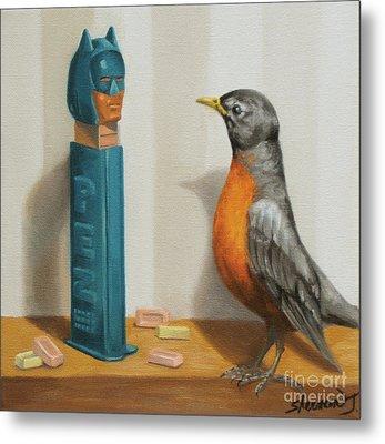 Batman And Robin Metal Print by Judy Sherman