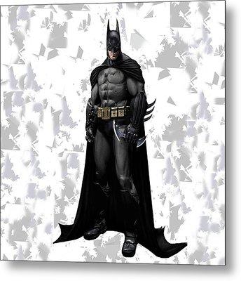 Metal Print featuring the mixed media Batman Splash Super Hero Series by Movie Poster Prints