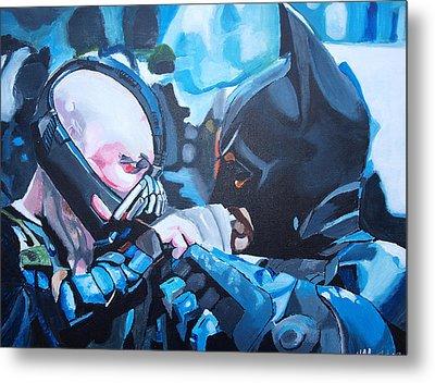 Batman Vs Bane Metal Print by Martin Putsey