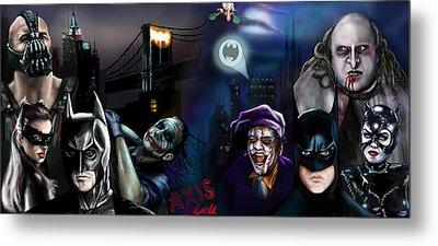 Batman Vs Batman Metal Print by Vinny John Usuriello