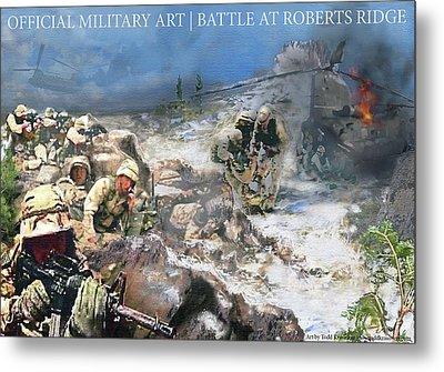 Battle At Roberts Ridge Metal Print by Todd Krasovetz