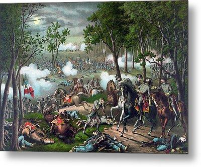 Battle Of Chancellorsville - Death Of Stonewall Metal Print
