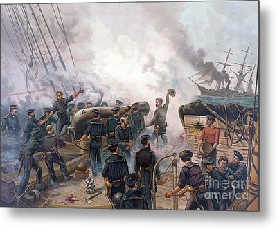 Battle Of Cherbourg Metal Print by Julian Oliver Davidson
