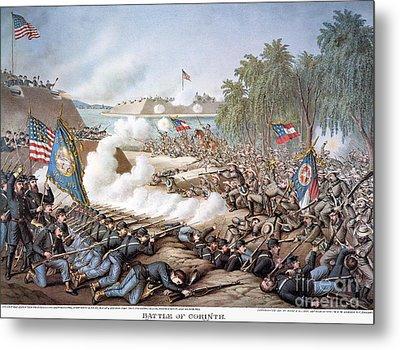 Battle Of Corinth, 1862 Metal Print by Granger