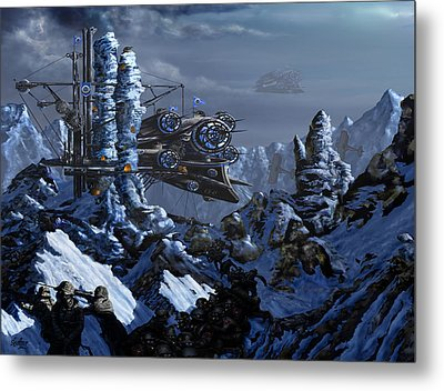 Metal Print featuring the digital art Battle Of Eagle's Peak by Curtiss Shaffer