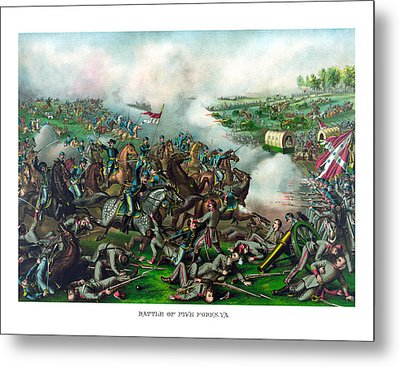 Battle Of Five Forks Metal Print by War Is Hell Store