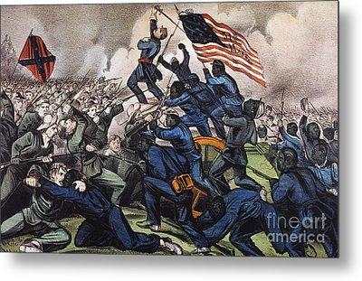 Battle Of Fort Wagner, 1863 Metal Print by Granger
