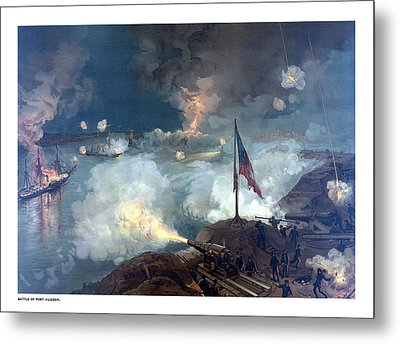 Battle Of Port Hudson Metal Print by War Is Hell Store