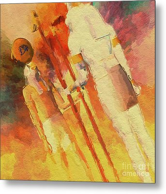 Battle Of The Gods, Horus And Seth By Mb Metal Print