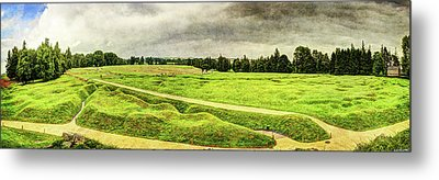Battle Of The Somme Trench Frontline At Beaumont-hamel - Vintage Version Metal Print by Weston Westmoreland