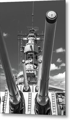 Metal Print featuring the photograph Battleship Missouri by Colleen Coccia