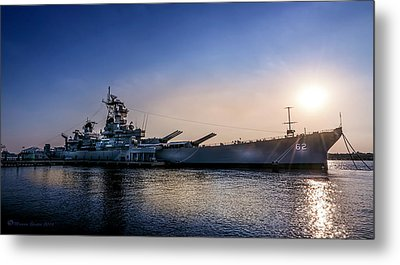 Battleship New Jersey Metal Print by Marvin Spates