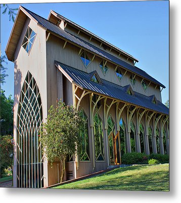 Metal Print featuring the photograph Baughman Meditation Center - Outside by Farol Tomson