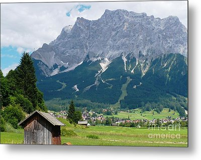 Bavarian Alps Landscape Metal Print by Carol Groenen