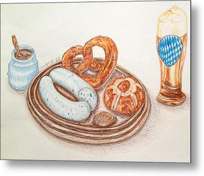 Bavarian White Sausage Metal Print